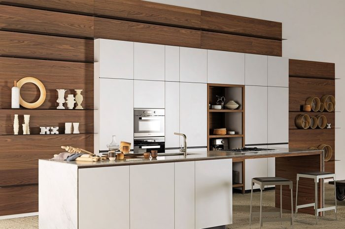 Cuisine Valcucine Forma Mentis Laccato Opaco Bianco Ghiaccio | Cuisiniste Nice l Massimo Cucine