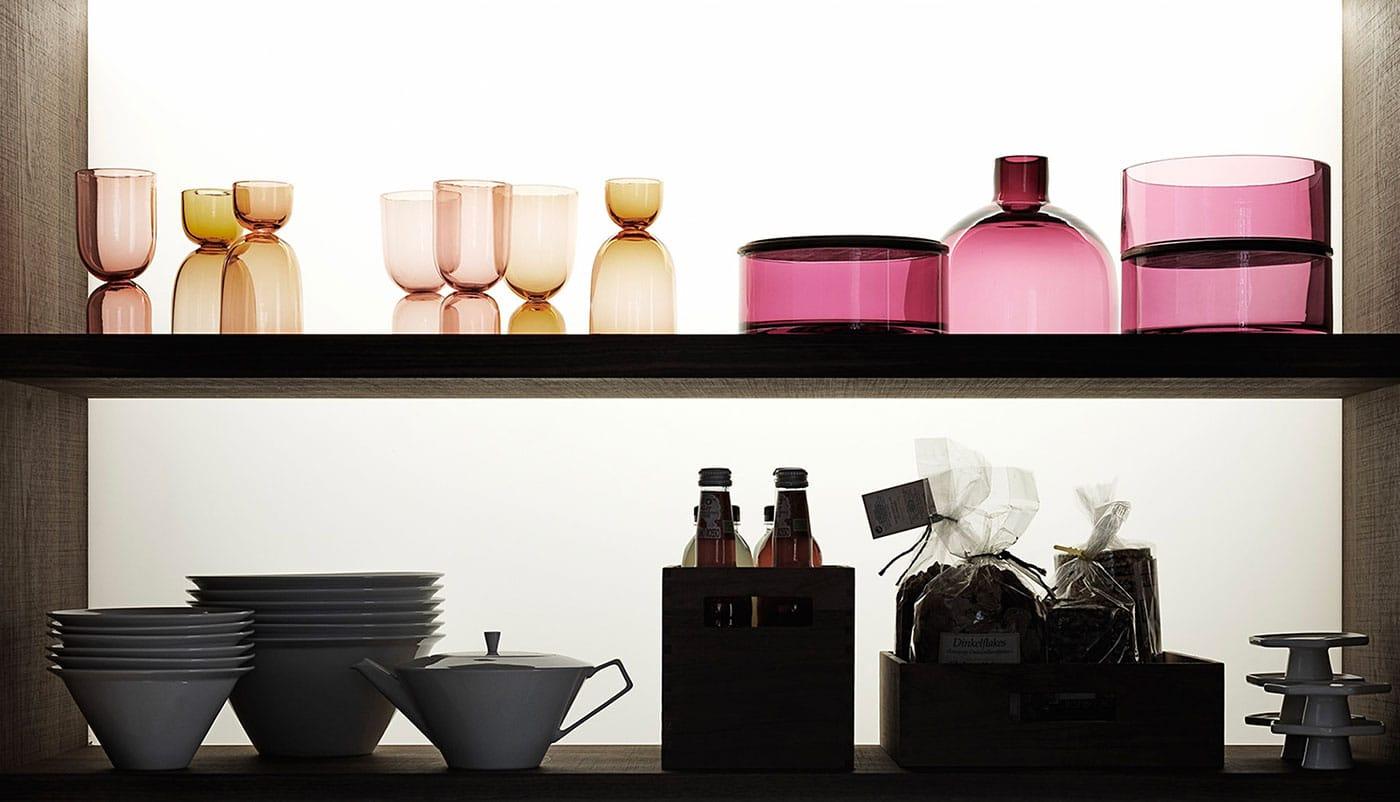 Cuisine Valcucine Genius Loci Vitrum opaque tiroir pierre Cardoso | Cuisiniste Nice | Massimo Cucine