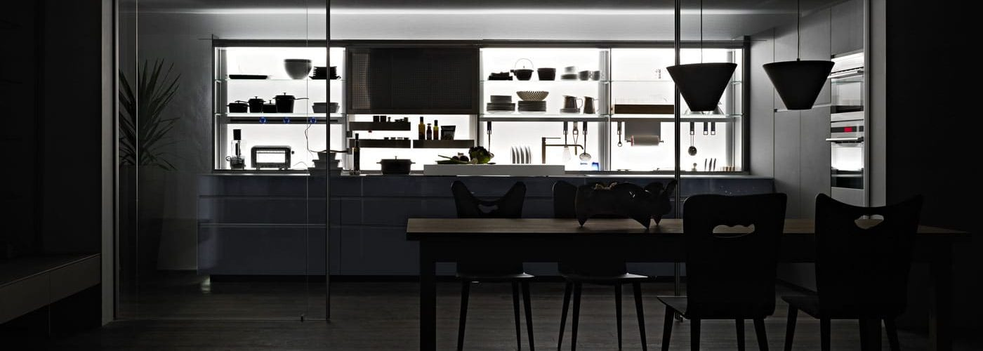 Aménagement cuisine de luxe   Modèle Valcucine
